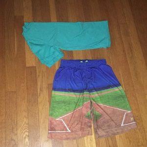 Old navy size 10/12 go dry baseball field shorts